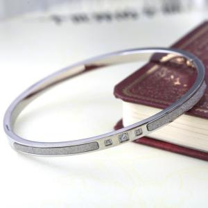 China Scrub Stainless Steel Bangle, Ladies Stainless Steel Bracelet, Diamond Bangle on sale