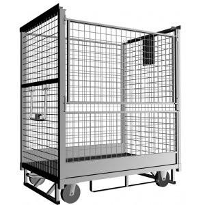 China Demountable Wire Mesh Roll Container Folding Roll Cage 500-1200kgs on sale