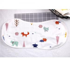 China Personalized Plain Dyed Baby Burp Cloths Soft Absorbent Cotton 3 Layers on sale