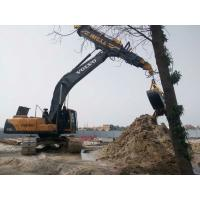 Low Noise Excavator Rotating Clamshell Grapple Bucket For Telescopic Boom Arm