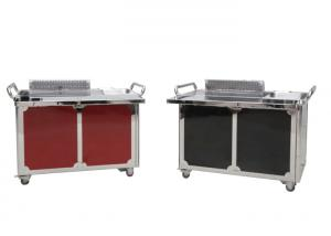 China Smokeless Japanese Teppanyaki Grill Table Red and Black 1200*850*800mm on sale