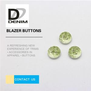 China 4 Holes Green Shirt Buttons 3D Printed 20L 24L 26L 28L New Design on sale