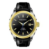 Black Classic Men Watches Vogue Multifunction With Leather Strap