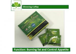Quality Body Beauty Slimming Coffee Diet , Fat Burner Green Coffee For Weight Loss for sale