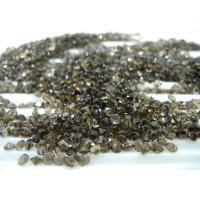 3mm  Round Cut Natural Loose Gemstones Smoky Quartz For Jewelry Ring