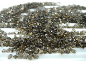 China 3mm  Round Cut Natural Loose Gemstones Smoky Quartz For Jewelry Ring on sale