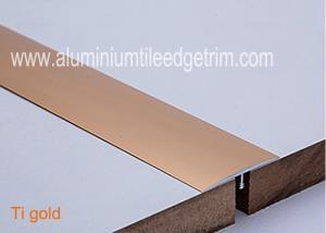 China T Shaped Aluminium Floor Trims , Metal Floor Edging StripGap Covering 40mm Width on sale