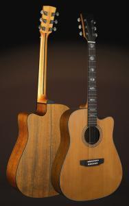 China 41inch OEM TOP solidwood vintage cutaway electric acoustic guitar/western guitar steel string sale-TP-AG57 on sale