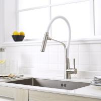 China SATIN FINISHED LONG SPOUT FAUCET COLORFUL SPOUT SINK FAUCET,KITCHEN FAUCET FLEXIBLE on sale