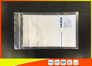 Quality Custom Printed Transparent Plastic Zipper Bags Use For Industry , Eco - Friendly for sale