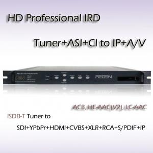 China HD Professional IRD ISDB-T/TB TO ASI UDP/IP Decoder SDI HDMI CVBS Video Output RIH1301 on sale