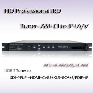 China HD Professional IRD ISDB-T/TB TO ASI UDP/IP Decoder SDI HDMI CVBS Video Output RIH1301 on sale