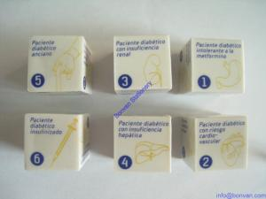 China pad printing eraser,cube shape eraser with pad printing on sale