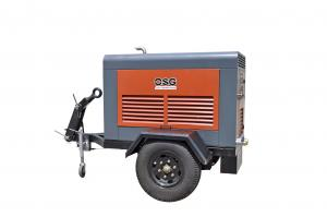 China High Efficiency 75 KW Diesel Portable Air Compressor for Industrial , Energy Saving Used in Bridge Construction, Municip on sale