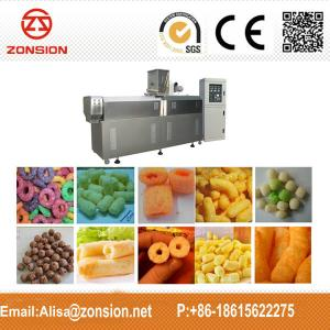 China puffed corn snacks machine double screw extrusion snacks machine on sale