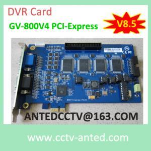 China DVR Board GV-800 PCI-Express V8.5 CCTV Video Recording Card 16 channel on sale