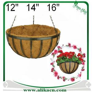 China Decoration Metal Hanging Basket Planter on sale