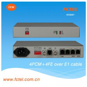 China Fiber Optic Multiplexer With FXO+FXS+EM2/4-Wire, 4Voice Multiplexer supplier