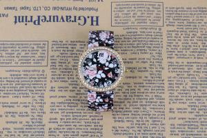 China 2015 New Arrival Hot Selling Mint Green Leather Flower Watch Rose Geneva Watch Flower Women Dress Watch on sale