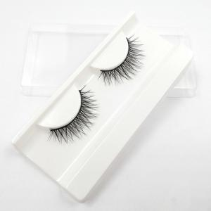 China OEM Private Label Synthetic Silk Eyelashes Faux Mink Strip Lashes on sale