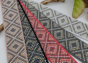 China Durable Decorative Elastic Ribbon , Customized Color Elastic Ribbon Bands on sale