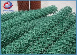 China Smooth Surface 8 Foot Chain Link Fence 9 Gauge Steel Diamond Mesh For Construction on sale