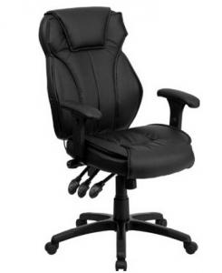 China High Back Black Leather China Office Chair on sale