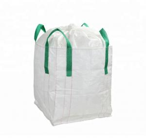 China Custom Fabric Polypropylene Jumbo Bags Filling Spout Top / Full Open Top Available on sale