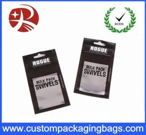 China Metallic Black Printing OPP Zipper poly mailer bags With Bottom Gusset , Waterproof on sale