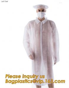 China durable chemical resistant lab coats,elastic material coverall workwear,Disposable Medical Nonwoven White Lab Coat on sale