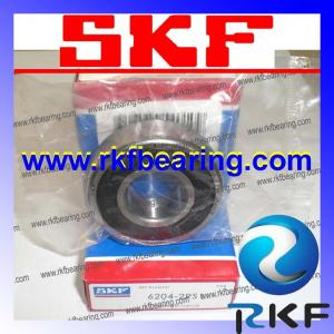 China High Precision 100% chrome steel / Gcr15 Deep Groove Ball Bearing SKF 6204-2RS1 on sale