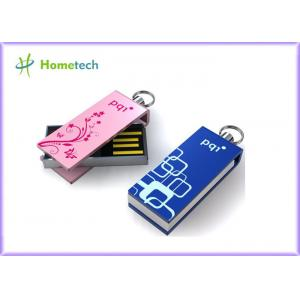 China Mini Pink Twist USB Sticks , Logo Laser Engraved Gifts USB Sticks on sale