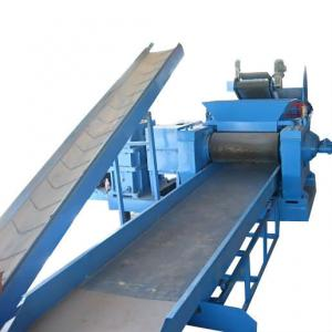 China PLC Tyre Crushing Machine Tire Recycling Plant For Rubber Strips on sale