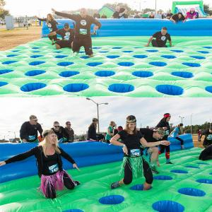 China Water proof PVC Tarpaulin Inflatable Mattress Run For 5K Obstacle Course on sale