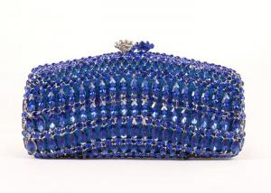 China Big Size Simple Clasp Navy Blue Clutch Bag Python Skin Leather Material on sale