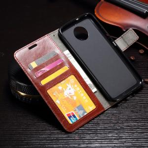Quality Motorola G5s G6 Leather Wallet Case With Soft Tpu , Motorola Protective Case for sale