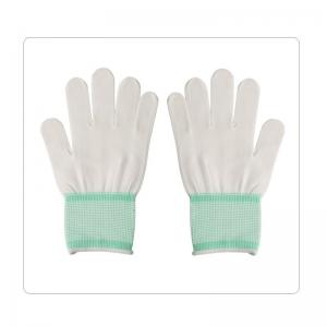 China Packing And Daily Cleaning 13 Gauge White Seamless Nylon Knitted Gloves on sale
