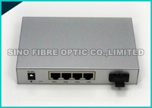 China 10 Gigabit Ethernet Media Converter Copper To Fiber Optic Open SFP+ Managed on sale