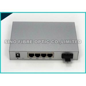 China 10 Gigabit Ethernet Media Converter Copper To Fiber Optic Open SFP+ Managed on sale