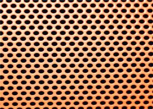 China Colourful Aluminum And Iron Perforated Sheet Metal Powder Coated Surface on sale