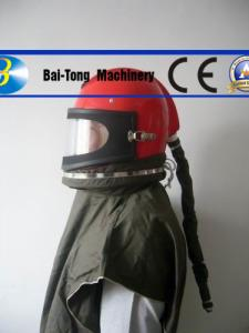 China Full Face Sandblast Protective Helmet , Sand Blast Cabinet Parts Attractive Appearance on sale
