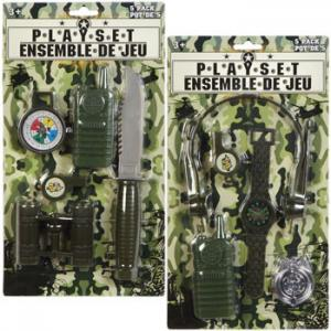 China Childrens Plastic Toys , Army Action Playsets With Binoculars Compass Whistle Radio on sale