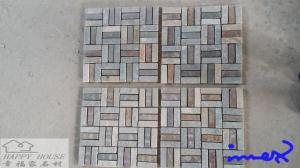 China Yellow wood grain culture stone on sale