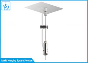 China Lightweight Ceiling Light Suspension Kit For Aluminium Profiles 7 X 7 Construction on sale