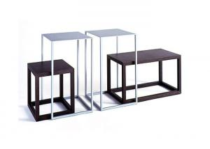 Quality Standard Display Nesting Tables Modern Style , Shop Display Tables Freestanding Metal for sale