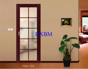 China Integrated Larch Wood Aluminum Clad Wood French Doors 15mm Thick Aluminum Cladding on sale