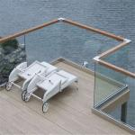 Modern Glass Railing For Decking With PVC Handrail
