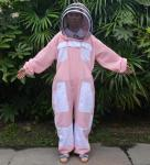 Hooded Breathable and Pink Beekeeping Protective Clothing With YKK Zipper