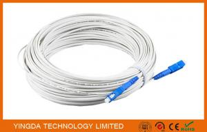 China Figure -8 Drop Cable Fiber Optical Patch Cord SC / PC Connector 50M White 2.0*30mm on sale