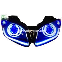 2013 YAMAHA YZF-R15 HID Head light Motorcycle Parts LED Drag Racing Original Head Light Bl